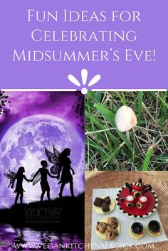 Midsummer's Eve 2018 - - My mom and I started celebrating Litha the afternoon before the Summer Solstice. It is traditional to leave something out for the fairies on Midsummer's Eve, so I made tiny oatmeal cookies an….