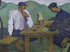 Basques jouant aux cartes (Vascos jugando a las cartas) - Ramiro Arrúe