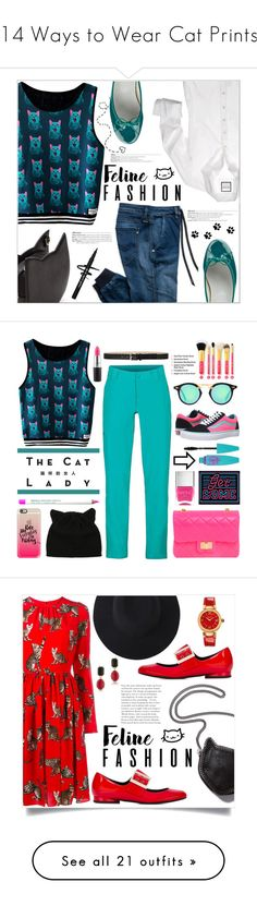 """""""14 Ways to Wear Cat Prints"""" by polyvore-editorial ❤ liked on Polyvore featuring waystowear, catprints, Replay, Repetto, catstyle, MAC Cosmetics, Marmot, Design Inverso, Vans and Casetify"""