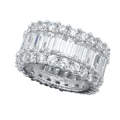 Dress up any outfit with this dazzling CRISLU Classic Baguette Eternity Band. Sparkling stones at every angle will make sure that all eyes will be on you! 6.75