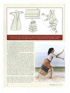 replicas of Minoan clothing by Bernice Jones, in Archaeology Magazine