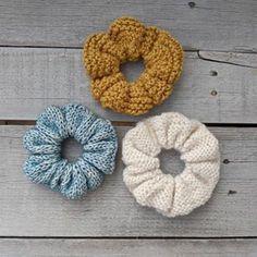 Free Knit & Crochet Scrunchies Patterns – Savlabot Crochet Yarn, Crochet Hooks, Free Crochet, Cotton Crochet, Knit Beanie Pattern, Yarn Bee, Bobble Stitch, Yarn Tail, Yarn Sizes