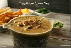 Spicy White Turkey Chili Recipe - Yours and Mine ARE Ours