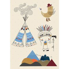 illustrators > Swantje & Frieda. That little teepee is the cutest.