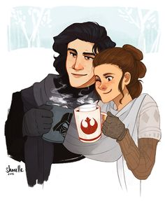 rey + kylo ren - winter modern AU by shorelle on DeviantArt i ship it not