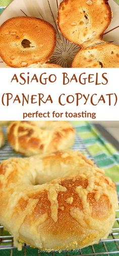 If you love asiago cheese bagels, this is your lucky day. This asiago bagel recipe benefits from a long, overnight rise and bakes up chewy and perfect! Bagel Bar, Bagel Bites, Asiago Cheese Bagel Recipe, Egg Bagel Recipe, Cheese Bagels, Brunch Recipes, Breakfast Recipes, Bakken, Play Dough