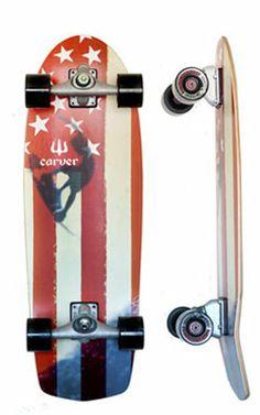 Carver Skateboard Amber Flag