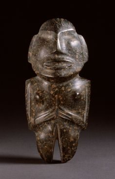 Standing Female Figure, Mexico, Guerrero, Mezcala, 500 BCE--1000AD