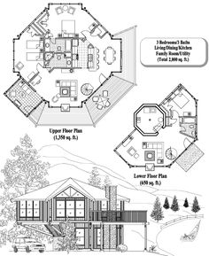 Pedestal home floor plans