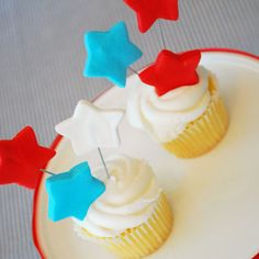 Star fondant cupcake toppers $15 for 1 dozen