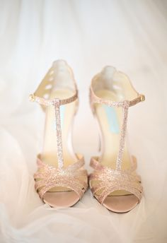 Glittery champagne colored heels // Kristen Weaver Photography