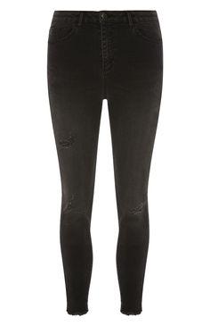 Primark - Schwarze Jeans im Used-Look