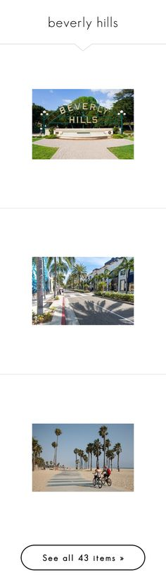"""""""beverly hills"""" by letycalazans on Polyvore featuring multicolour, home, home decor, wall art, white home decor, paper wall art, photo wall art, white wall art, photographic wall art e los angeles wall art"""