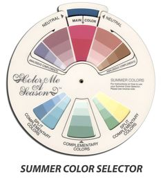 Color Selector - Summer - Color Me A Season Store