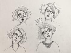 lucy quirky cook artist characters jeanneoliver course drawing simple oliver sketch