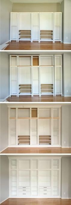 IKEA HACK: DIY BUILT-IN BOOKCASE with Hemnes furniture | Studio 36 Interiors by bleu.