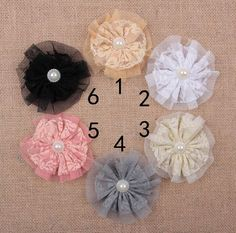 Fabric Flowers Shabby Tulle Flower Artificial Satin Mesh Flower Hair Accessories Flower For Diy Christmas Headwear Headbands Hairpin Aw52 From Convoy, $0.36 | Dhgate.Com