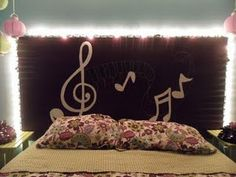 """Tween Dream Room with """"your name in LIGHTS"""" headboard! I designed this room"""