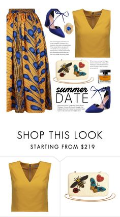 """Summer Date"" by beebeely-look ❤ liked on Polyvore featuring Alice + Olivia, Dolce&Gabbana, chic, laceup, sammydress and summerdatenight"