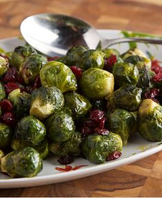 Brussels Sprouts with Balsamic and Cranberries http://wm13.walmart.com/Cook/Recipes/77573/