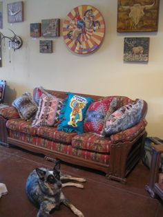 """Shop dog Hank and Amy Novelli art from th """"Way out West"""" show"""