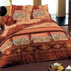Safari - SoulBedroom 100% Coton Parure de lit (Housse de couette 140x200 cm & 1 Taie d'oreiller 50x70 cm)