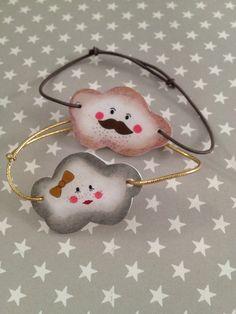 Bracelets nuages en plastique fou