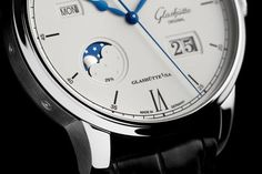 The Glashütte Original Senator Excellence Perpetual Calendar in satin-polished stainless steel mounted on a black Louisiana alligator leather strap.  More @ http://www.watchtime.com/wristwatch-industry-news/watches/upping-the-excellence-glashutte-originals-new-perpetual-calendar/ #glashütte #watchtime #watchgeek #Baselworld2017