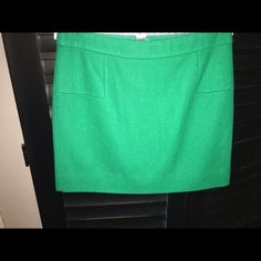 J Crew green wool skirt Gorgeous green wool skirt. Excellent condition. J. Crew Skirts Midi