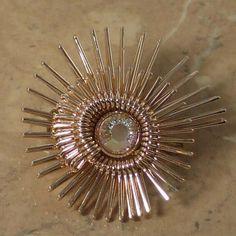 Fanned whirl vintage brooch | 1960s jewellery | Jewels & Finery UK