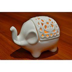 Decorative White Elephant Openwork Design Ceramic Tea Light Candleholder - MyGift® MyGift http://www.amazon.com/dp/B00KC8SIVS/ref=cm_sw_r_pi_dp_0bc5wb049JA98