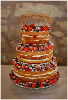 victoria sponge wedding cake - Google Search