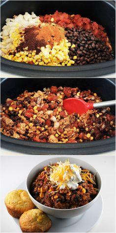 #SlowCooker Chorizo Turkey Chili