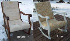 refinished & new fabric