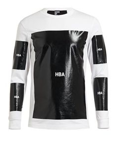 HOOD BY AIR - Coated Logo Cotton Sweatshirt