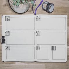 Bullet journal weekly layout, unique daily headers. | @nordic.notes