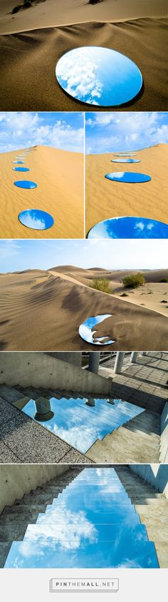 如海市蜃樓的裝置藝術,沙漠與高樓的鏡中藍天 | 大人物... - a grouped images picture - Pin Them All