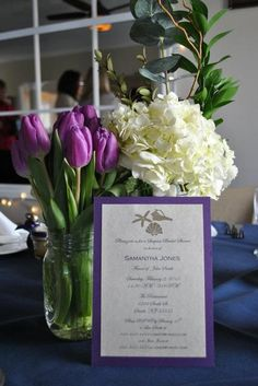 "Photo 1 of 17: Elegant Purple and Cream Beach Bridal Shower / Bridal/Wedding Shower ""Elegant Purple and Cream Beach Bridal Shower""   Catch My Party"