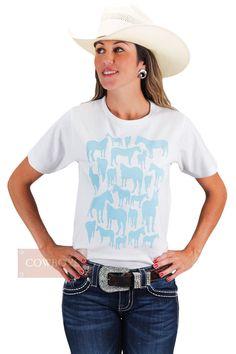 Blusinha Feminina Estampada Wyo Horse    Blusinha Feminina Estampada - Importada. 100% algodão.