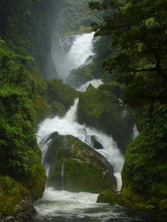 Mackay Falls, Milford Track (by loveexploring)