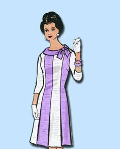 1950s Original Stunning Mail Order Dress Pattern Sz 37 B | eBay