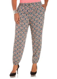 Ashley Stewart Women's Plus Size Aztec Drawstring Pants           ($19.18) http://www.amazon.com/exec/obidos/ASIN/B00HUYES6G/hpb2-20/ASIN/B00HUYES6G