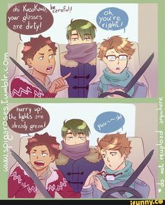 iwaizumi, oikawa, ushijima, haikyuu, roadtrip