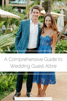 Get your questions answered about wedding dress codes, and find out what to wear to any event. We break down common etiquette rules and provide outfit ideas for wedding guests. Mens Outdoor Wedding Attire, Mens Casual Wedding Attire, Semi Formal Wedding Attire, Cocktail Wedding Attire, Fall Wedding Outfits, Daytime Wedding, Dress Wedding, Cocktail Dresses, Wedding Guest Etiquette