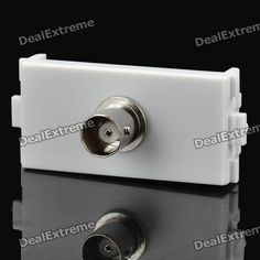 Color: White - Material: ABS + copper - Supports one group BNC signal - Soldering free design - Compatible with 86 panel http://j.mp/1ljBFTR