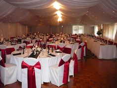 Red Black White Wedding Reception