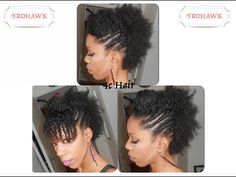 {Hair Tutorial} Frohawk 4c Hair / Cheveux Crépus - YouTube
