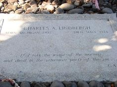 """(CHARLES LINDBERGH"""") grave in Hawaii; despite being married 45 years to the most famous man in the world, Anne chose not to be buried next to him . Cemetery Statues, Cemetery Headstones, Old Cemeteries, Cemetery Art, Graveyards, Famous Tombstones, Charles Lindbergh, Famous Graves, Grave Memorials"""