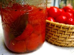 From Laura Calder, a simple method of canning whole tomatoes.