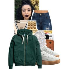 A fashion look from January 2016 featuring Puma sneakers, Michael Kors watches and River Island earrings. Browse and shop related looks.